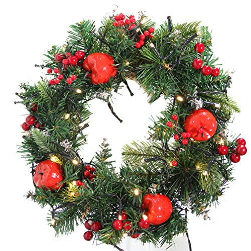 VOSAREA 1 Pz Guirnaldas de Navidad Aguja de Pino Luminosa Guirnaldas de Anillo de Flores...