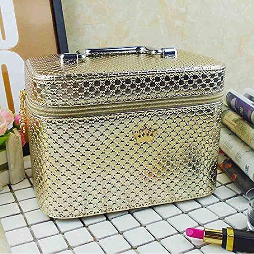 OYHBGK Bolsa de cosméticos de alta calidad Mujeres Noble Corona Gran capacidad Organizador de...